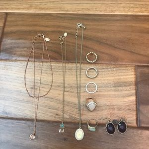 Charming Charlie Dainty Necklace & Ring Bundle